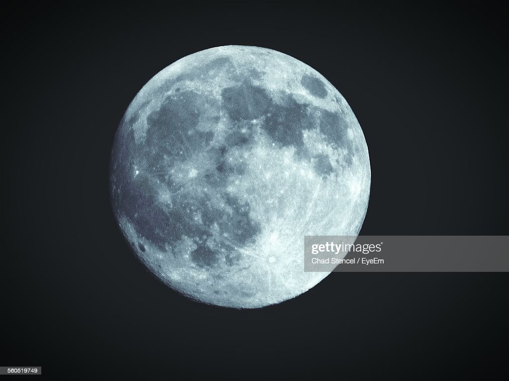 Idyllic Moon At Night : Stock Photo