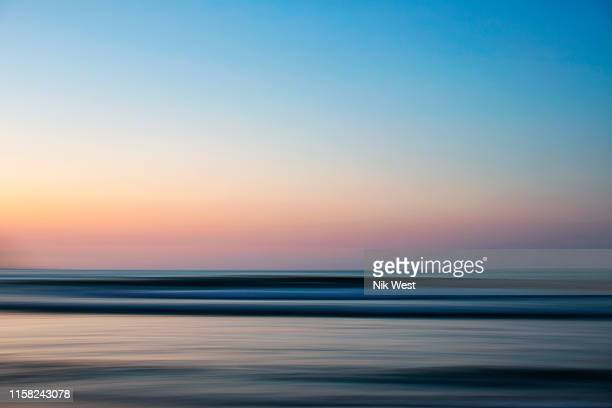 idyllic ocean view at sunset, sayulita, nayarit, mexico - seascape stock pictures, royalty-free photos & images