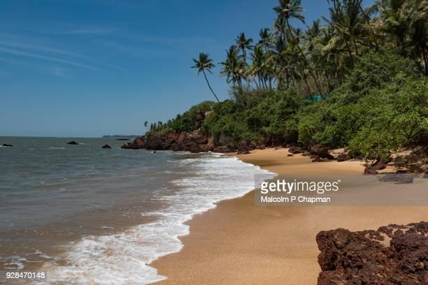 idyllic, paradise beach near kannur, kerala - kerala stock pictures, royalty-free photos & images