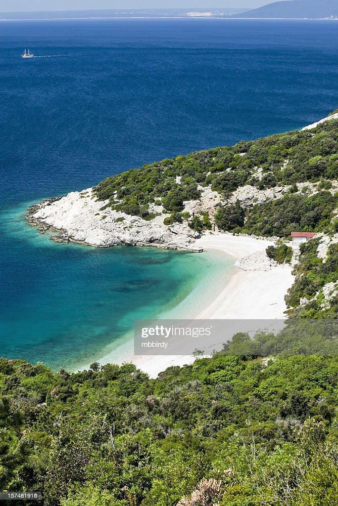 Idyllic sandy beach : Stock Photo