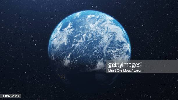idyllic shot of earth - globe terrestre photos et images de collection