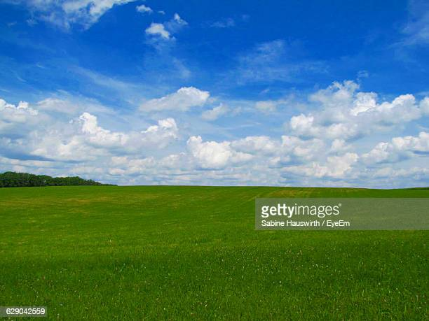Idyllic Shot Of Green Landscape Against Sky