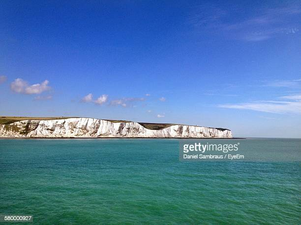 Idyllic Shot Of White Cliffs Of Dover Against Sky