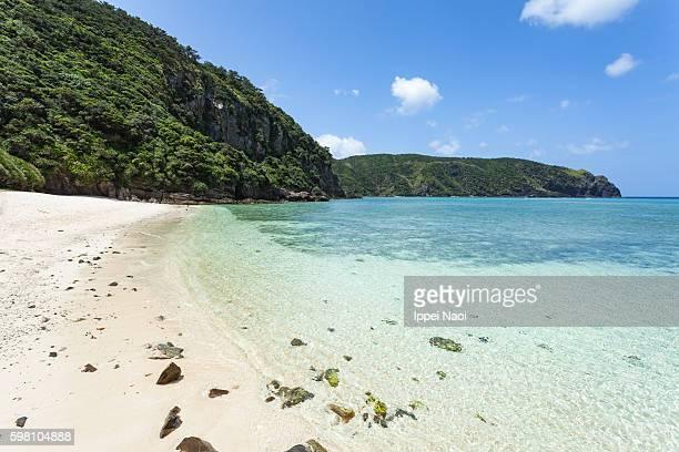 Idyllic tropical beach of Kerama Islands National Park, Zamami, Japan