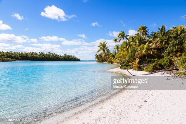 Idyllic tropical beach of One Foot Island, Aitutaki, Cook Islands
