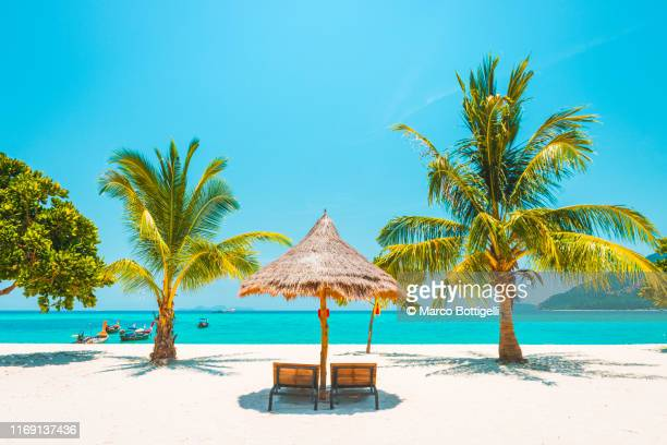 idyllic tropical beach, thailand - paradise stock pictures, royalty-free photos & images