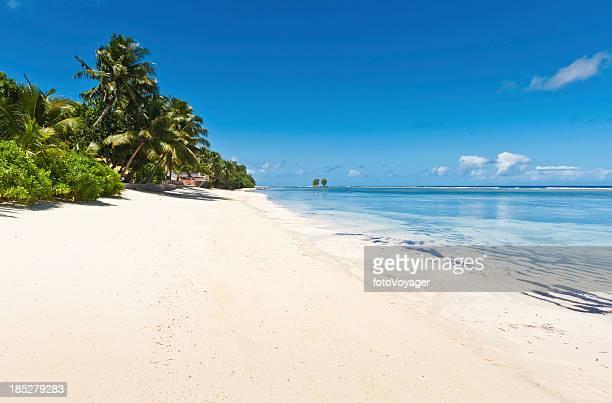 Idyllic tropical island beach vacation resort