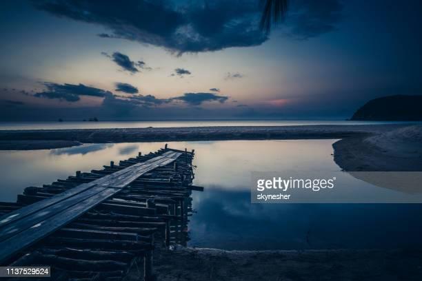 idyllic view at twilight on ko phangan, thailand. - indochina stock pictures, royalty-free photos & images