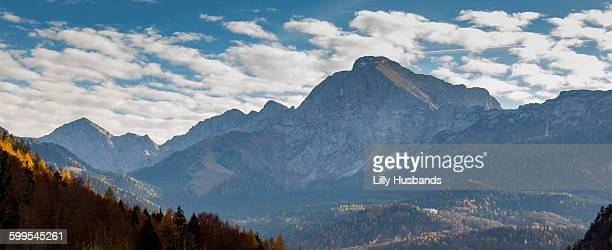 Idyllic view of Bavarian Alps against cloudy sky