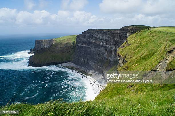 Idyllic View Of Cliffs Of Moher Against Sky