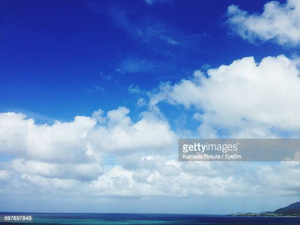 Idyllic View Of Cloudy Sky Over Sea