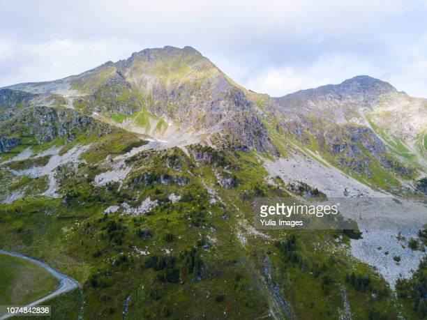 Idyllic view of mountain range against sky Obertauern