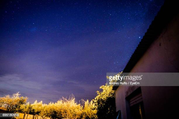 idyllic view of star field - andres ruffo stock-fotos und bilder