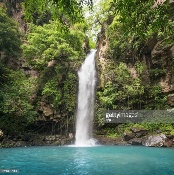 cascata idilliaca, parco nazionale rincon de la vieja, costa rica - cascata foto e immagini stock