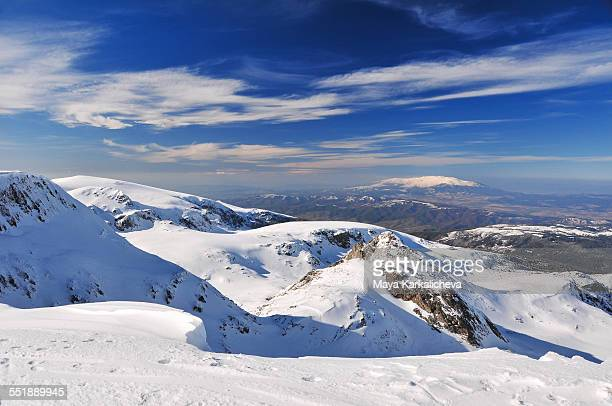 Idyllic winter mountain scenery