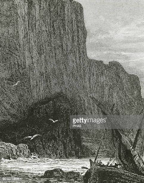 Idyls of the King by Lord Alfred Tennyson Engraving by Gustave Dore Brittany coast