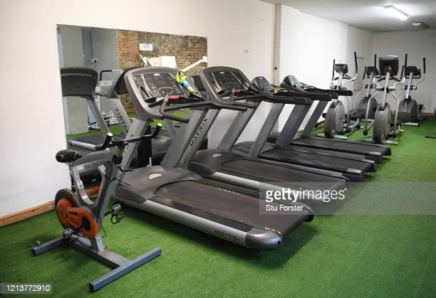 Iechyd Da Gym lies empty on a normally busy friday night after owner Mered Pryce allowed members to foster equipment from the gym during the lockdown...
