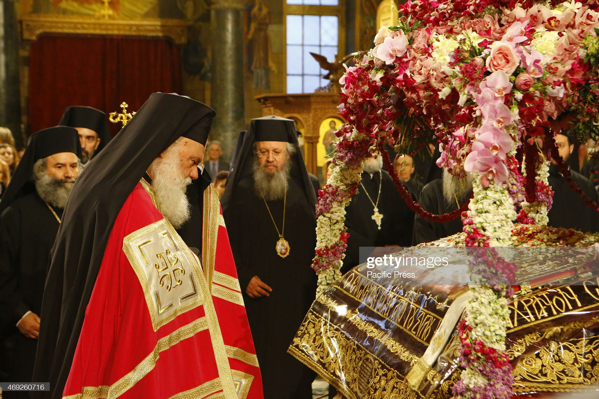 Ieronymos II, the Archbishop of Athens and All Greece and... : News Photo