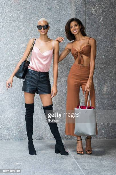 Iesha Hodges and Tarah Rodgers attend casting for the 2018 Victoria's Secret Fashion Show in Midtown on August 29 2018 in New York City