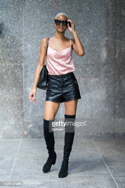 Iesha Hodges attends casting for the 2018 Victoria's Secret Fashion Show in Midtown on August 29 2018 in New York City