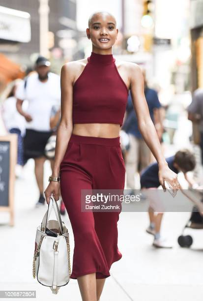 Iesha Hodges attends the casting for the 2018 Victoria's Secret Show in Midtown on September 4 2018 in New York City