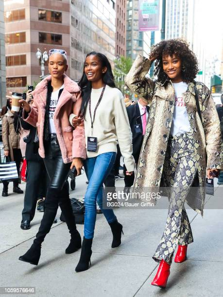 Iesha Hodges Isilda Moreiraattend and Cheyenne MayaCarty are seen on November 08 2018 in New York City