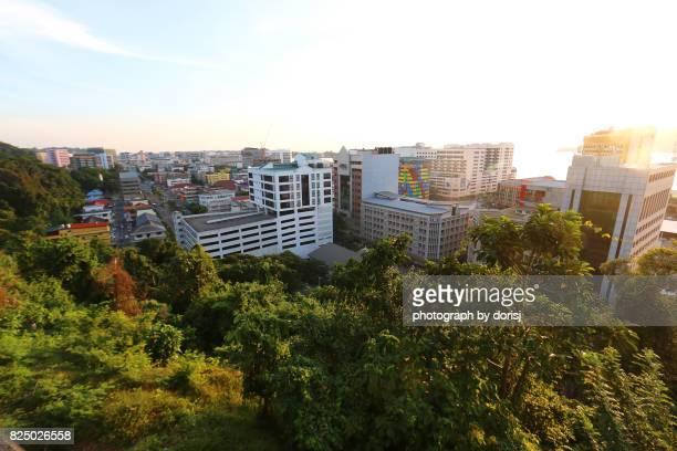 iew of kota inabalu city, sabah, malaysia - kota kinabalu stock pictures, royalty-free photos & images