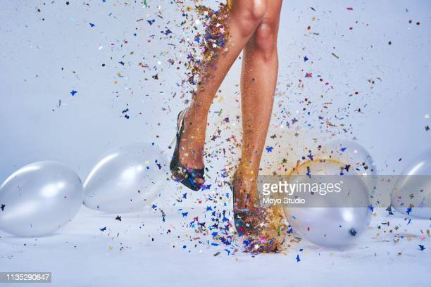 if it's a party, i'll be there! - high heels stock pictures, royalty-free photos & images