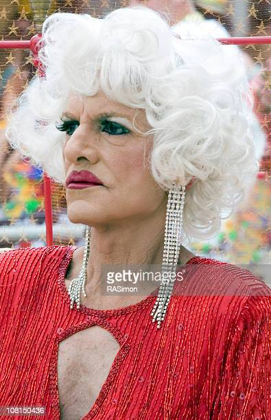 if looks  could kill... - transvestite stock photos and pictures