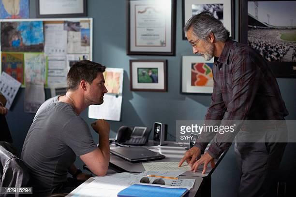 ALPHAS If Memory Serves Episode 211 Pictured Warren Christie as Cameron Hicks David Strathairn as Dr Lee Rosen