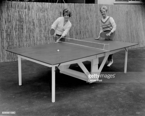 If you can one who considers calisthenics a bore but recognizes the need of exercise table tennis may be the answer The table shown here with...