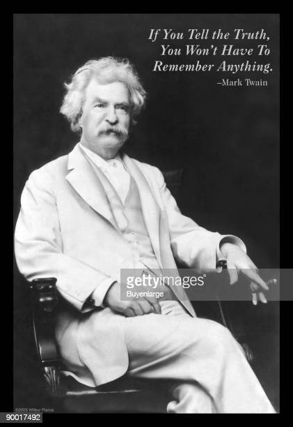 'If you tell the truth you won't have to remember anything' Mark Twain