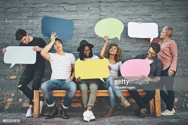 if you want to say something, say it here - discussion stock photos and pictures