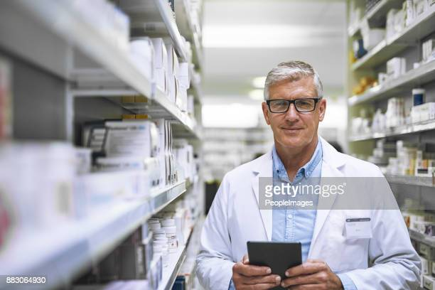 if you're ill , we have the pill - pharmacist stock pictures, royalty-free photos & images