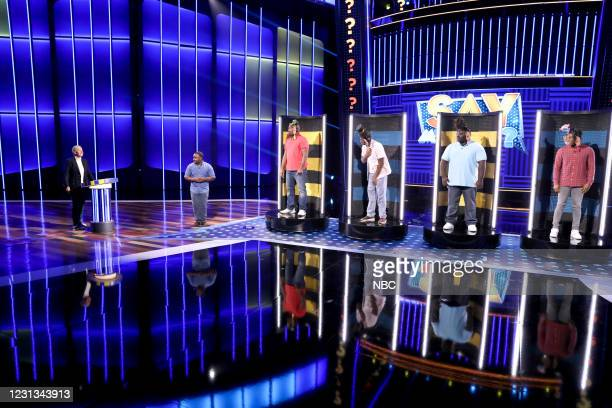 "If You're Not First, You're Blast"" Episode 411 -- Pictured: Ellen DeGeneres, Travis Stokes, Kejuan Donahue, Larvell Mason, Cliff Crawford, Dominique..."