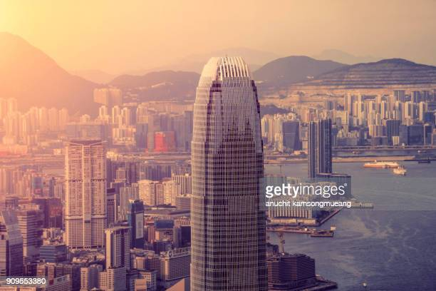 ifc tower - two international finance center stock pictures, royalty-free photos & images