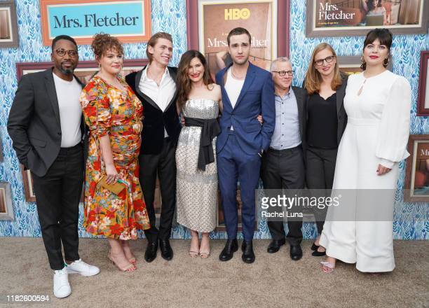 Ifádansi Rashad Katie Kershaw Owen Teague Kathryn Hahn Jackson White Tom Perrotta Helen Estabrook and Casey Wilson attend the premiere of HBO's Mrs...