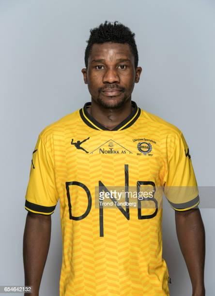 Ifeanyi Mathew of Team Lillestrom Sportsklubb LSK during Photocall on March 17 2017 in Lillestrom Norway