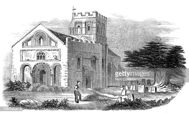 Iffley Church, 1845. 'This beautiful specimen of Norman and early English architecture, situate at a short distance from Oxford, has lately been...