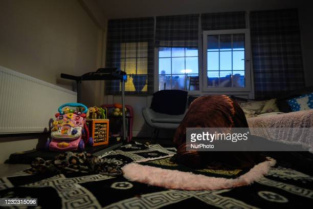 Ifrah Ahmed, a Somali-Irish living in Dublin, during Maghrib, the fourth of the five required daily prayers, inside her apartment on the second day...
