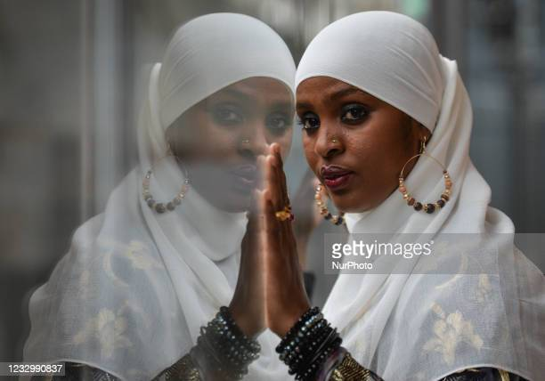 Ifrah Ahmed, a Somali-Irish social activist poses for a pictures inside EPIC The Irish Emigration Museum, in Dublin city center. Born into a refugee...