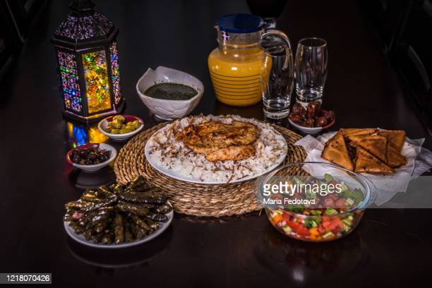 iftar served during ramadan - iftar stock pictures, royalty-free photos & images