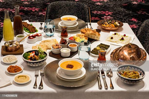 iftar table - ramadan stock pictures, royalty-free photos & images