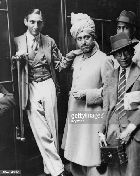 Iftikhar Ali Khan Pataudi, Nawab of Pataudi and right-handed batsman of the touring England cricket team for the Ashes Test series in Australia, with...