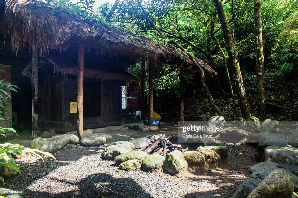 Ifugao house in Tam-awan Village : Stock Photo
