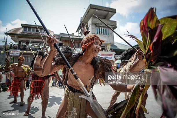 Ifugao tribesmen perform a ritual dance during the Imbayah festival in Banaue town Ifugao province northern Philippines April 27 2014 The Imbayah...