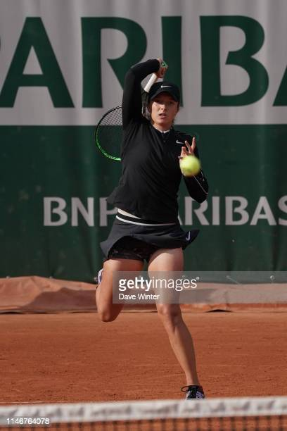 Iga Swiatek of Poland during the first round on Day 3 of Roland Garros on May 28 2019 in Paris France