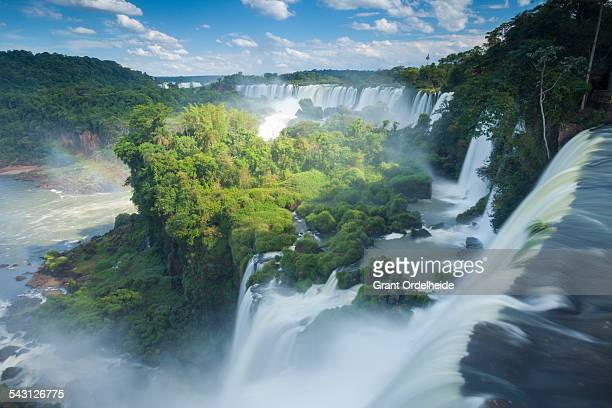 igauzu falls in argentina. - brazil vs argentina stock photos and pictures