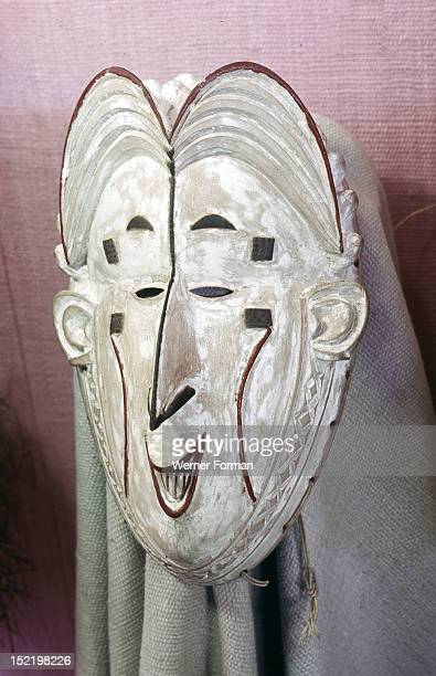 Igbo Okoroshi mask one of the messengers of the water deity Owu who performs during the annual one month New Yam festival known as Oma Nigeria Igbo...