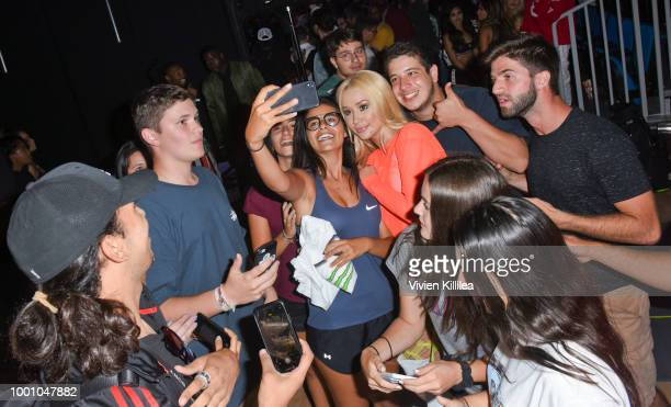 Iggy Azalea and fans at Monster Energy Outbreak Presents $50K Charity Challenge Celebrity Basketball Game at UCLA's Pauley Pavilion on July 17 2018...